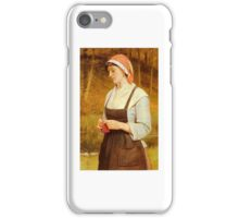 Charles Sillem Lidderdale - Knitting 1888 iPhone Case/Skin