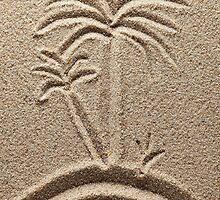 Ocean Island Beach Sand Palm iPone Case / iPad Case / Samsung Galaxy Case / Tote Bag / Pillow   by CroDesign