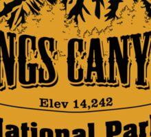 Kings Canyon National Park, California Sticker