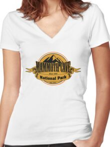 Mammoth Cave National Park, Kentucky Women's Fitted V-Neck T-Shirt