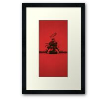 Red Tranquil Framed Print