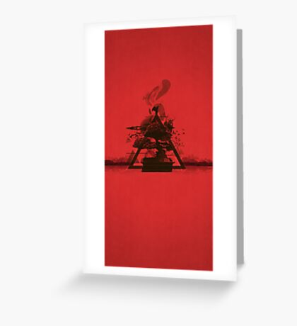 Red Tranquil Greeting Card