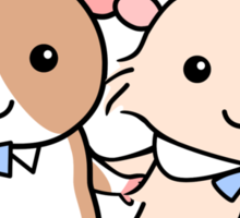 Hamster Wedding Couple Sticker