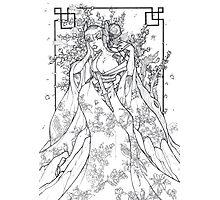 Cherry Blossom Pencils Photographic Print