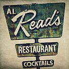 Al Read's Restaurant Vintage Sign by Honey Malek