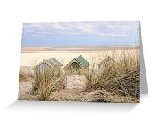 Dunes and huts. Greeting Card
