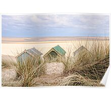 Dunes and huts. Poster
