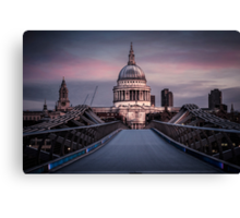Dawn colour over St Pauls. Canvas Print