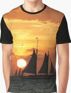 Sunset Sail in Key West II Graphic T-Shirt