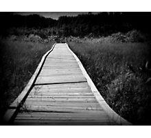 boardwalk - Dawson Creek B.C Photographic Print