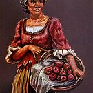 """""""Tonight's Apple Pie"""" Portrait Of An African Woman by Susan Bergstrom"""