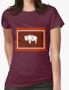Wyoming [Red Orange] | Flag State | SteezeFactory.com Womens T-Shirt