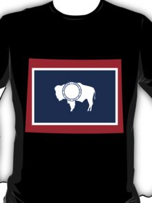Wyoming   Flag State   SteezeFactory.com T-Shirt