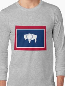 Wyoming | Flag State | SteezeFactory.com Long Sleeve T-Shirt