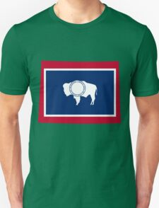 Wyoming   Flag State   SteezeFactory.com Unisex T-Shirt