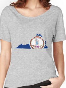 Virginia | Flag State | SteezeFactory.com Women's Relaxed Fit T-Shirt