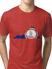 Virginia | Flag State | SteezeFactory.com Tri-blend T-Shirt