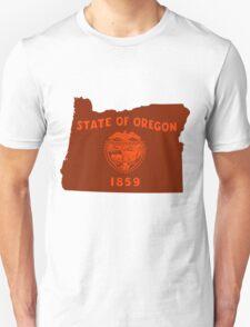 Oregon [Red Orange]   Flag State   SteezeFactory.com T-Shirt