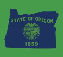 Oregon [Blue Green] | Flag State | SteezeFactory.com by FreshThreadShop