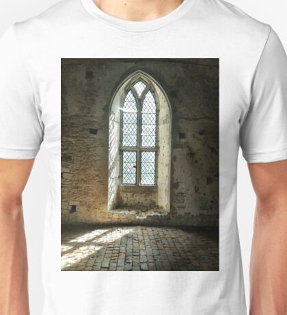 Old Soar Manor Chapel Window Unisex T-Shirt