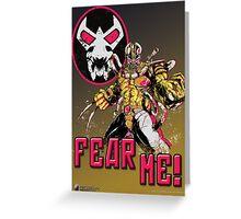 Fear Me! Greeting Card