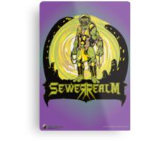 SewerRealm -Yellow Metal Print