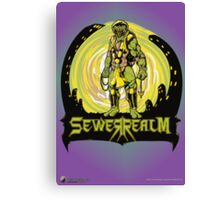 SewerRealm -Yellow Canvas Print