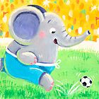 Football Player - Rondy the Elephant playing soccer by oksancia