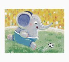 Football Player - Rondy the Elephant playing soccer Kids Clothes