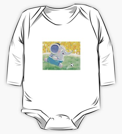Football Player - Rondy the Elephant playing soccer One Piece - Long Sleeve