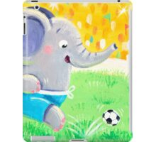 Football Player - Rondy the Elephant playing soccer iPad Case/Skin