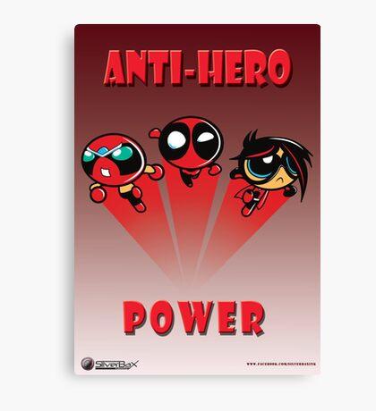 Anti-Hero Power Canvas Print