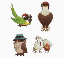 Bird Fortress stickers by Lintufriikki