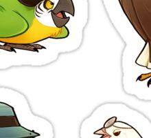 Bird Fortress stickers Sticker
