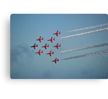 Red Arrows at Airbourne Canvas Print