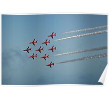 Red Arrows at Airbourne Poster