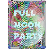 full moon party iPad Case/Skin