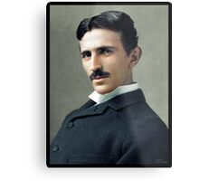 Nikola Tesla, ca. 1890 Metal Print