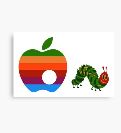 Very Hungry for Apple Canvas Print