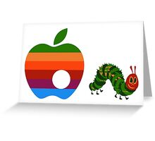 Very Hungry for Apple Greeting Card