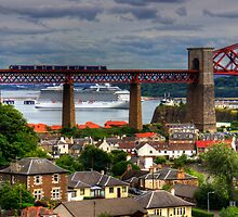 Cruise Ship in the Forth by Tom Gomez
