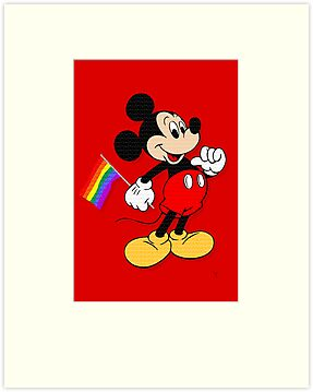 Mickey Mouse - Pride Flag - Pop Art by wcsmack