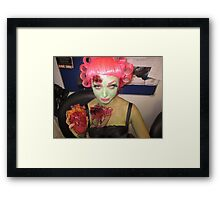 Zombie Pin Up  Framed Print