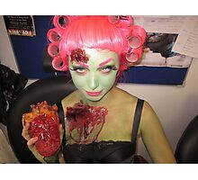 Zombie Pin Up  Photographic Print