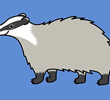 Cute European Badger  by Zoe Lathey