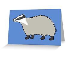 Cute European Badger  Greeting Card