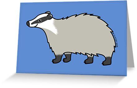 Cute European Badger  by Zoe Lathey