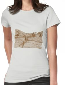Tuscany Landscape Womens Fitted T-Shirt