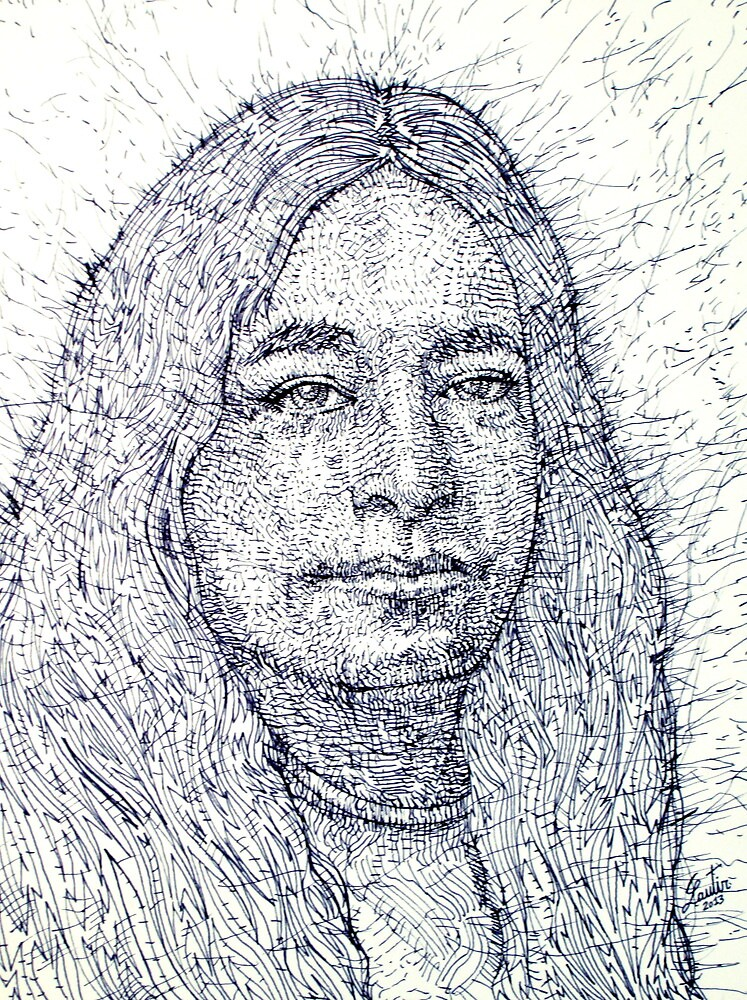 YOGANANDA / pen portrait by lautir
