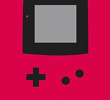 Old School Game Boy Color Red for iPhone & Poster by alish
